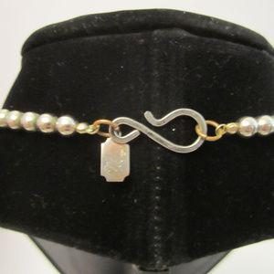 Designed by Paula Jewelry - Stone Brass and Wood Necklace EUC Artisan